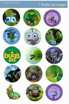 """Folie du Jour Bottle Cap Images: Bug's Life free digital bottle cap images 1"""""""