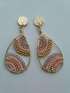 Suyi Trend Handmade Beaded Earrings Statement Drop Earrings Bohemian Tassel Dangle Earrings Creative Gifts for Women Lady – Fine Jewelry & Collectibles Beaded Tassel Earrings, Wire Wrapped Earrings, Bead Earrings, Earrings Handmade, Bead Jewellery, Beaded Jewelry, Jewelery, Diy Schmuck, Schmuck Design