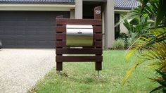 Guanavations Timber Letterboxes - The Byron, with large mailbox. For when we eventually update the front yard!