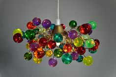 How much fun is this one?!  colorful  bubbles hanging chandelier by yehudalight on Etsy, $129.00