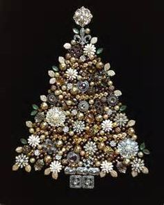 christmas tree made of old jewelry - Bing images
