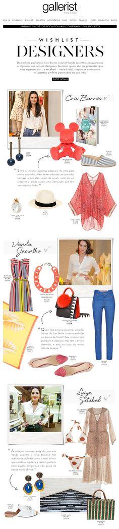 newsletter, fashion, layout, gallerist, cris barros, luiza setúbal, vanda jacintho, wishlist, gift guide