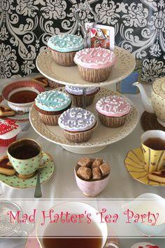 Alice In Wonderland Mad Hatter's Tea Party Cupcakes @ Not Quite Nigella