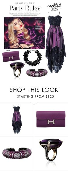 """""""Purple Passion;  cocktail dress contest"""" by im-karla-with-a-k ❤ liked on Polyvore featuring moda, Yves Saint Laurent, Hermès, Matthew Campbell Laurenza, Alexandra Mor y First People First"""