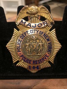 Major, Police Reserve, Police Department City of New York Law Enforcement Badges, San Jose California, Police Badges, History Museum, Old And New, Wwii, New York City, Military, Antique