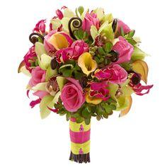 Citrus Splash: #Roses #GloriousaLilies  #CymbidiumOrchids #Callalilies #FernCurls #Jade   #Bouquet #Weddings #VenetianWeddings #VegasWeddings #TheKnot