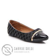 PIĘKNE BALERINY W KRATĘ w sklepie internetowym GrandeSaldi.