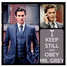 While Chris Hemsworth is MY Christian Grey...I love looking at Matt Bomer (why doesn't he like women?! So unfair!!)