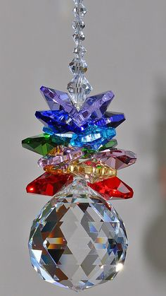 40 cm long Hanging Crystal Suncatcher Sphere 30mm faceted ball elements angel window decoration chakra pendulum lucky amulet on Etsy, $15.31 AUD