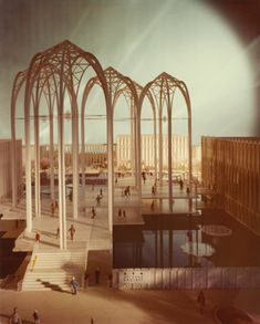 Original design of the Pacific Science Center, 1962
