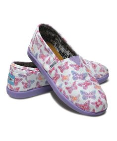 These ones for Lauren! Purple Butterfly Classic - Youth by TOMS on #zulily today!