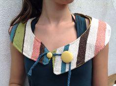 Just stripes- handwoven collar