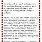 Parts of Speech Sentence Sort is a quick and easy game for two students to play at a time.  Sentence Sort will help your students with fluency, ide...