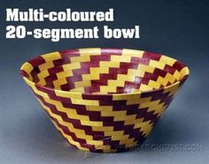 Bowl - Segmented Woodturning Plans - Woodturning Projects and Techniques - Woodwork, Woodworking, Woodworking Plans, Woodworking Projects