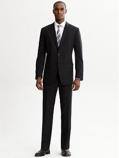 Banana Republic Monogram Italian Wool Suit