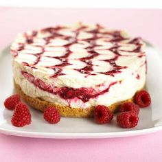 Cheesecake aux speculoos et son coulis de framboise
