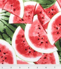 FINALLY!  A fun watermelon print - found at the Chico JoAnn store!