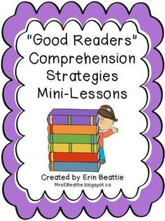 """Good Readers"" Comprehension Strategies Mini-Lessons (SECOND GRADE, WEEK 1!)"