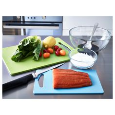 IKEA - LEGITIM Chopping board, set of 2 green, blue