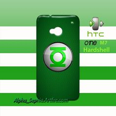 Green Lantern Logo HTC One M7 Case Cover Hardshell