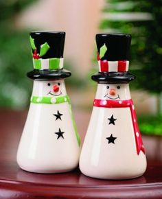 "Ceramic Snowman Salt and Pepper Shakers by Transpac. $9.50. Christmas. Size Approx: 4""H X 2"" W X 2"" D. Salt and Pepper Shakers. Ceramic Snowman Salt and Pepper Shakers Size Approx: 4""H X 2"" W X 2"" D Made in China"