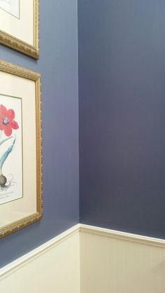 """141002 Guest Room #3 (the one that is currently lavendar) Walls: Sherwin Williams """"Distance"""""""