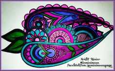 Whimsical paisley floral art done with Sharpie markers.For more of my work, check out my FB page by clicking the picture, or  Kristinastar.deviantart.com Geminimoondesign.wordpress.com Twitter.com/geminimoons And my designs are sold as prints and about 250 other products (like tshirts, phone cases, coffee mugs ect) at these links: Zazzle.com/gemini_moon Cafepress.com/magickalenchantments Society6.com/geminimoon Redbubble.com/people/geminimoonart And Artofwhere.com/shop/artist/6421