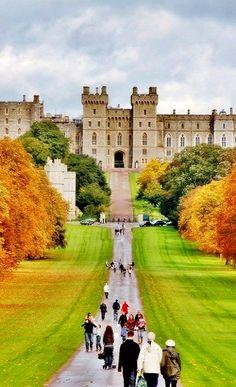 Windsor Castle in autumn, England