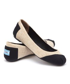 Look what I found on #zulily! Burlap Alessandra Vegan Classics Ballet Flat by TOMS #zulilyfinds