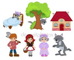 Little red riding hood Physical Activities For Preschoolers, Preschool Learning Activities, Free Preschool, Little Red Ridding Hood, Red Riding Hood, Operation Christmas Child, Tot School, Puppets, Fairy Tales