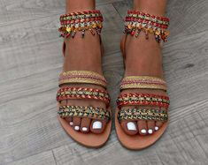 49 fantastiche immagini su sandali greci | Sandali greci