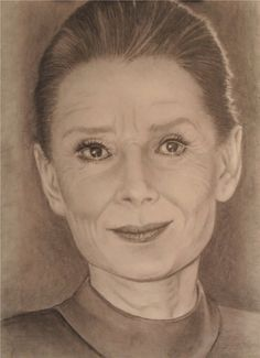 When a client chooses a person for a portrait that you're not that interested in, it can show in the finished product.    I was not excited about drawing Audrey Hepburn and it showed.  I got the mechanics of her face, but was unable to add life and personality.  Be careful when accepting a subject matter that you feel inadequate to draw realistically.