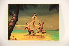 L011068 Boris Vallejo 1992 Card / Hawaii Three-O - 1978 - Card #71 / ARTWORK