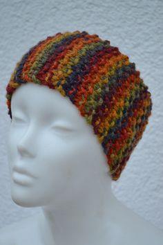 68e0740fbb8da8 Stirnbänder - Stirnband gestrickt bunt Haarband meliert Wollband - ein  Designerstück von Masche21 bei DaWanda