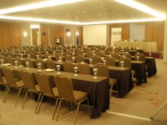 Scientific conference | National Technological University of Athens  Keyhole View: Effective delegates' hospitality and presentations' flow in line with a formal-style room set up.