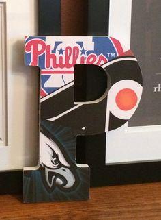 Philadelphia Sports Mash Up Letter P By Casey2383 On Etsy 20 00