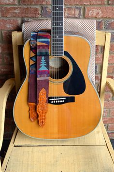 Handmade Guitar Straps from Guatemala (Style #9)
