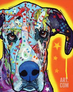 Great Dane Art Print by Dean Russo