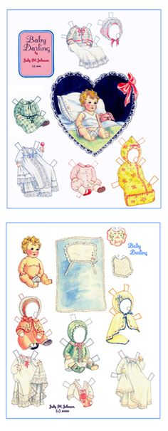 JMJ-Baby Darling; Paper Doll by Judy M Johnson