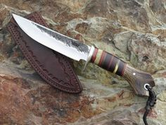 Behring Made Mission #knife with beautiful hammermark finish.