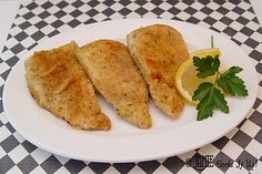 Pan Fried Fish- 5 Talapia fillets. 3/4 C flour, 1/2 t salt, 1 egg, 1 T water, 3/4 C Italian bread crumbs, 4 T olive oil. Cut your fish in half.  Dredge the fish in the flour & salt. Freeze 10 minutes. Dip fish in egg and bread crumbs. Add fish to good amt hot oil. When golden brown flip. After flipped, turn heat to med-lid on. 5-8 minutes for this to happen.  7. When the fish is browned on both sides and flakes easily with a fork it is done.