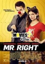 Free Download Mr Right 2016 Full HDrip Mp4 Movie Online from direct links. Get best Hollywood movies and upcoming 2018 movie trailers for free exclusive on movies4star.