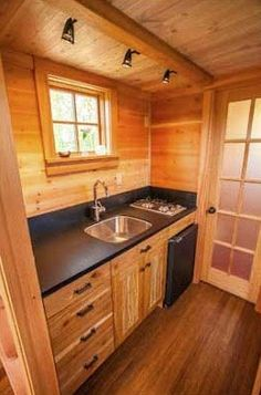 The JADE Tiny House with a unique floor plan   builder: JADE Craftsman Builders   designer: Taproot Architects