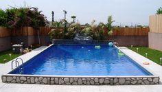 Rectangular gunite pool fishel pools springfield mo 1 800 for Affordable pools warrenton missouri