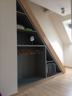 Storage under loft stairs