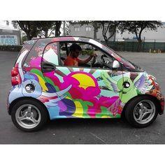Instagram photo by @project_ink #smartcar #vinylwrap #carwrap