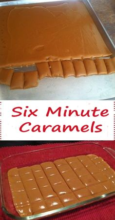 We absolutely adore this Six minute Caramels recipe. Its a great choice if you are looking for a sweet/desert that is both easy to make, and that can be stored and taste just like the day it was made. Yummy Treats, Sweet Treats, Yummy Food, Six Minute Caramels, Caramel Delights, Caramel Recipes, Golden Syrup, Instant Pudding, Pudding Cake