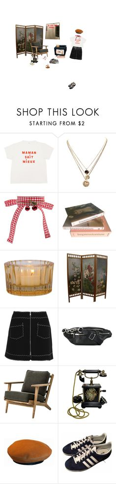 """""""History"""" by baekho ❤ liked on Polyvore featuring LowLuv, Miu Miu, Taschen, McQ by Alexander McQueen, Alexander Wang, Charlotte Olympia, Hermès, Ladurée and adidas"""