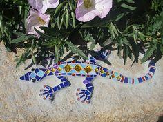 Gecko Mosaic Pattern in the garden