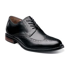 Nunn Bush Ryan Men's Wingtip Oxford Dress Shoes, Size: medium (9.5), Black
